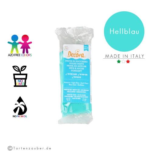 Decora Pasta di Zucchero - Fondant Hellblau 100g