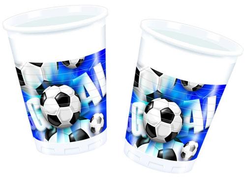 Plastikbecher Fussball 8 Stück
