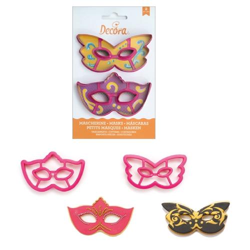 Decora Kunststoff Ausstecher Fasching - Maske